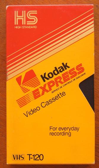 Vhs Usado Fita De Video Emtec T120 Caixa Kodak Yuyu Hakusho
