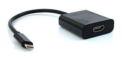 Cabo Adaptador Hdmi F X Usb-c M Adp-303bk Plus Cable