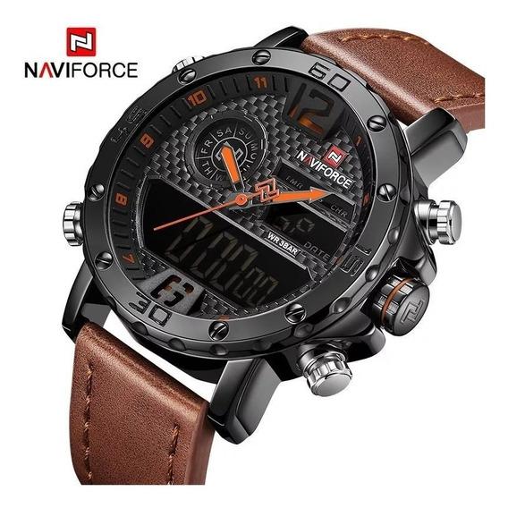 Relógio Masculino Naviforce 9134 Original Militar Esportivo