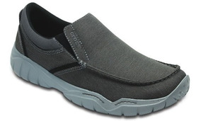 Zapato Crocs Caballero Swiftwater Casual Slip-on Gris