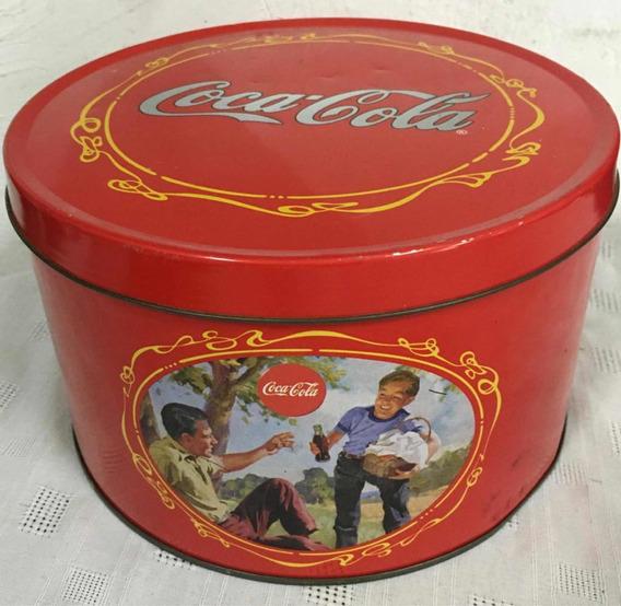Lata Coca-cola - Galletitas - Imágenes Antiguas - Colección