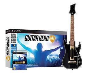 Guitar Hero Live Original Playstation 3 Ps3 Jogo + Guitarra