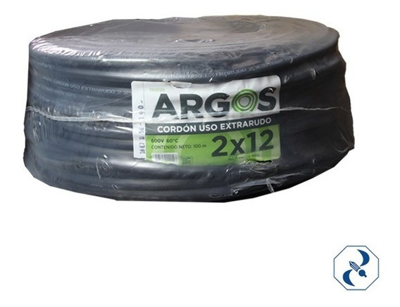Cable Uso Rudo 2x12 Argos [precio Por Metro 100% Cobre]