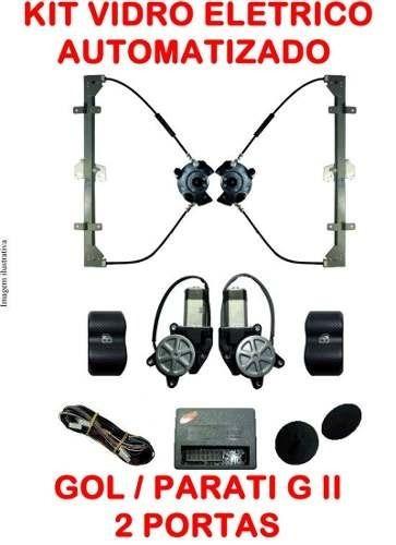 Kit Vidro Elétrico Sensorizado Gol G4 2006 A 2013 2 Portas