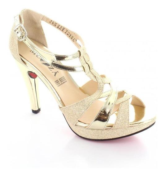 Zapatilla Para Mujer Muzza 10481-032495 Color Oro