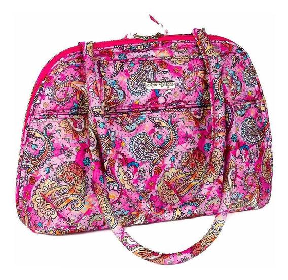 Bolsa Handbag Tecido Feminina Ombro Zíper Espaçosa Casual