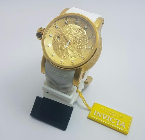 Relógio Invicta Yakuza Automatico Plus Branca 19546 Qualidade Premium