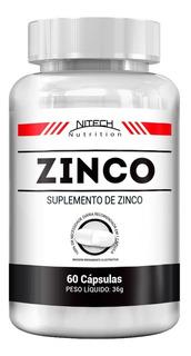 Zinco - 60 Cápsulas - Nitech Nutrition