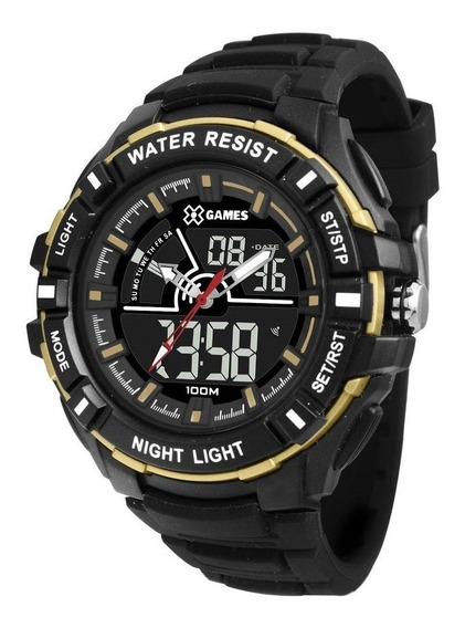 Relógio Masculino X-games Anadigi Xmppa244 - Preto/dourado