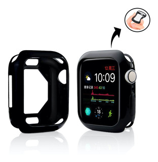 Case Bumper Capa De Silicone Compatível C/ Apple Watch 44mm