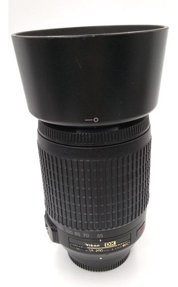Lente Objetiva Nikon 55-200mm Vr F 4.5 5.6 G