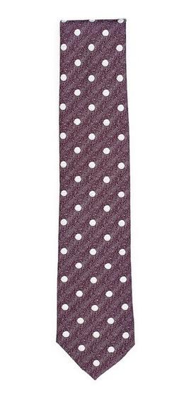 Corbata Modern Fit Para Caballero Bruno Corza Color Vino Con