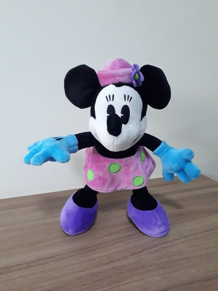 Pelúcia Minnie Mouse Retrô Articulada Original Disney