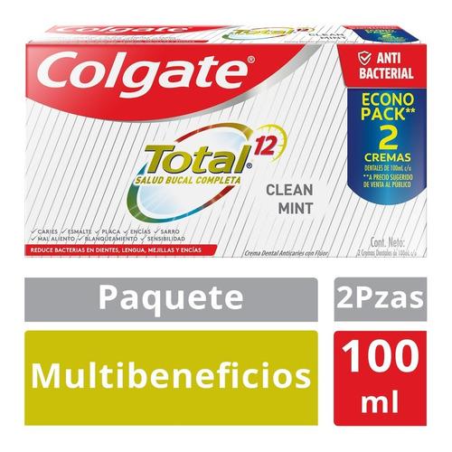 Imagen 1 de 5 de 2 Pzas Colgate Pasta Dental Total Clean, 100 Ml