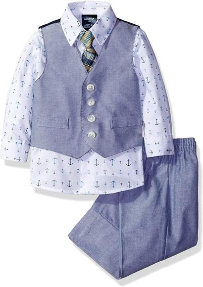 Náutica Original Traje Niño Corbata Chaleco Camisa Pantalon