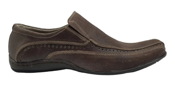 Zapato Hombre Cuero Marron Careva 2057 Oferta Cuarentena