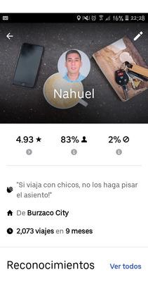 Chofer Uber (busco Auto)