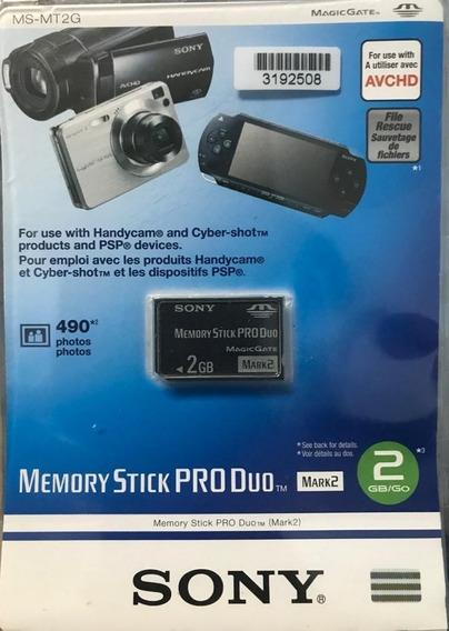 Cartão Memória Memory Stick Pro Duo Sony 2gb Original Mark2