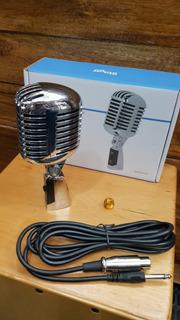 Micrófono Dinámico Stagg Vintage Sdmp40cr Con Cable