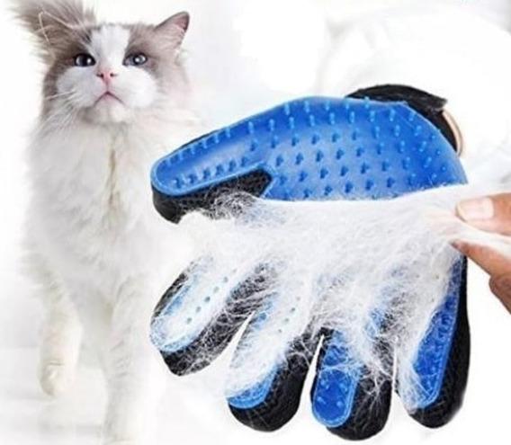 Luva Nano Magnética Tira Pelos Pets Cães Gatos True Touch