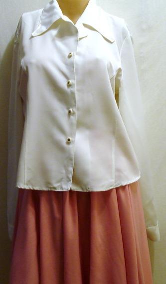 Camisa Vestir Secretaria Talle 3 Sisa 49cm Algodón Y Poliest