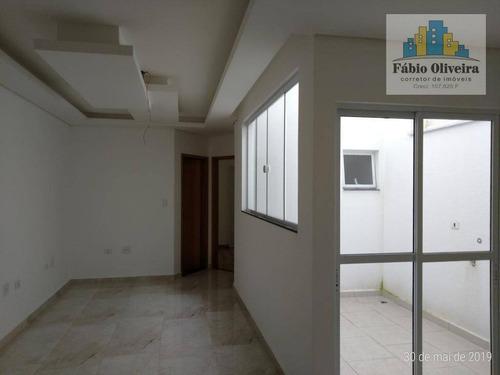 Cobertura  E Primeiro Andar Sem Condomínio Com 2 Dormitórios À Venda, 45 M² Por R$ 295.000 - Vila Marina - Santo André/sp - Co0098