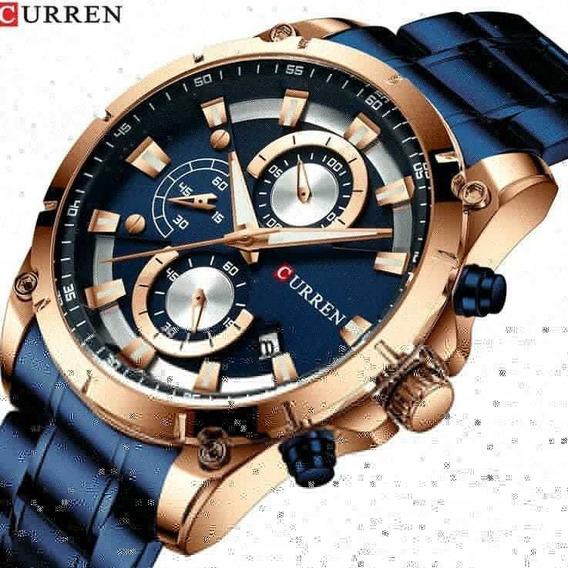 Relógio De Pulso Masculino Curren C-8360 Luxo Pronta Entrega
