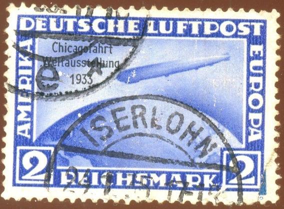 Alemanha Reich 1933 Dirigível Zeppelin Mi 497 Veja + Selos