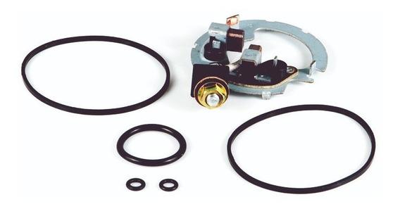 Suporte E Escovas Motor Partida ( Kit C/ Anéis Borracha ) Yamaha Fazer 250 Até 2011, Honda Xr 250 Tornado Nxr 150 Bros