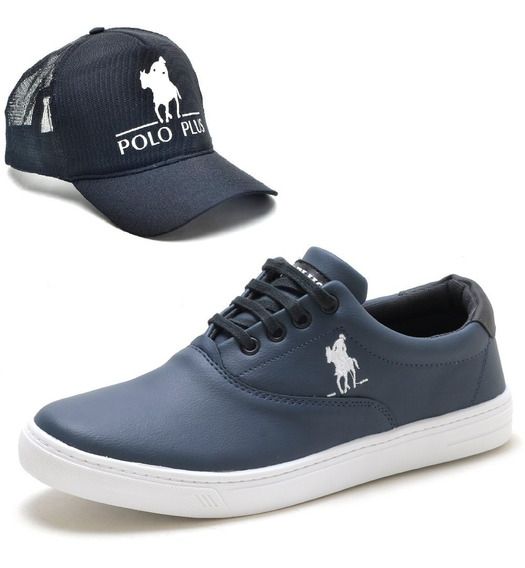 Tenis Sapatenis Slip On Polo Plus Masculino Original + Boné
