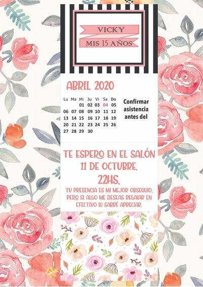 Tarjeta De 15 Años (diseño Digital Imprimible)