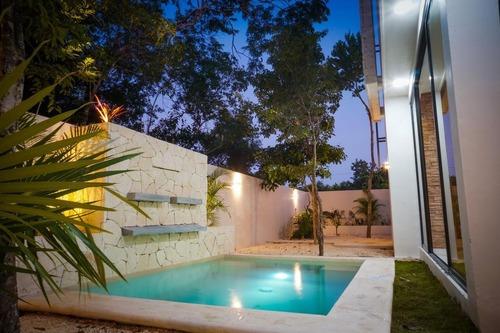 Increíble Casa 3 Recs Con Jardín Y Alberca Privada Equipada, Tulum (515)