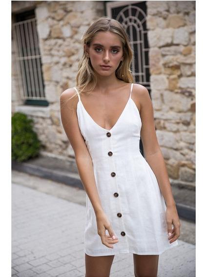 Vestido Playa Blanco Ropa Y Accesorios En Mercado Libre