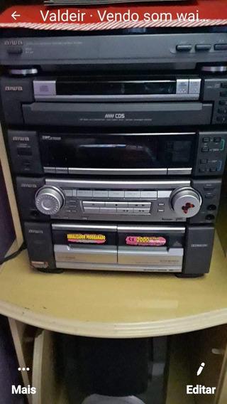 Vendo Som Aiwa. Relíquia5cds Vinil Tapes .2000wats