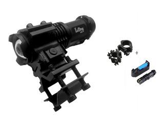 Set Riel 20mm Universal Cañon+ Linterna Tactica Rifle Escope