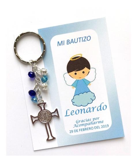 10 Llaveros De San Benito Recuerdo Boda Bautizo Presentación
