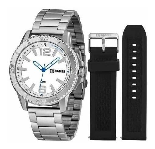 Relógio X-games Xmls0001 B2sx Aço Branco Duas Pulseiras