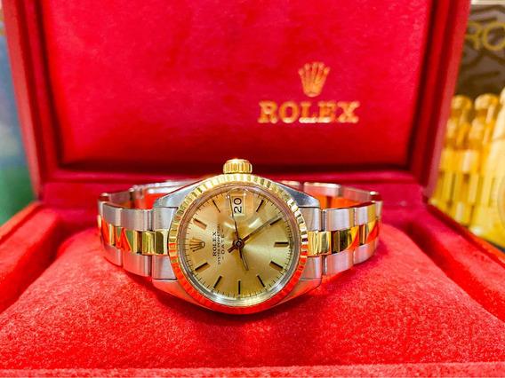 Rolex Date Lady Aço E Ouro , Promocao! Oportunidade!!!