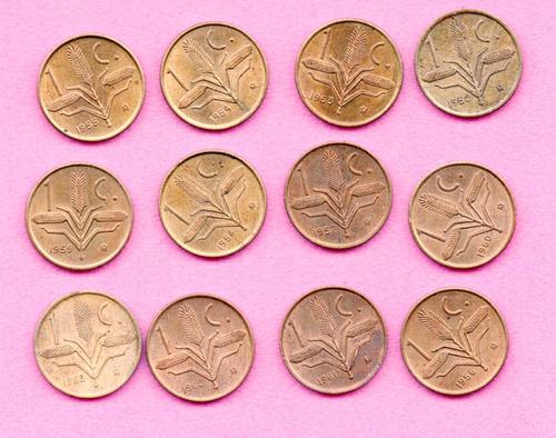 Imagen 1 de 4 de Colección Un Centavos Espiga  Años 1951 Al 1964 Brillo A1 36