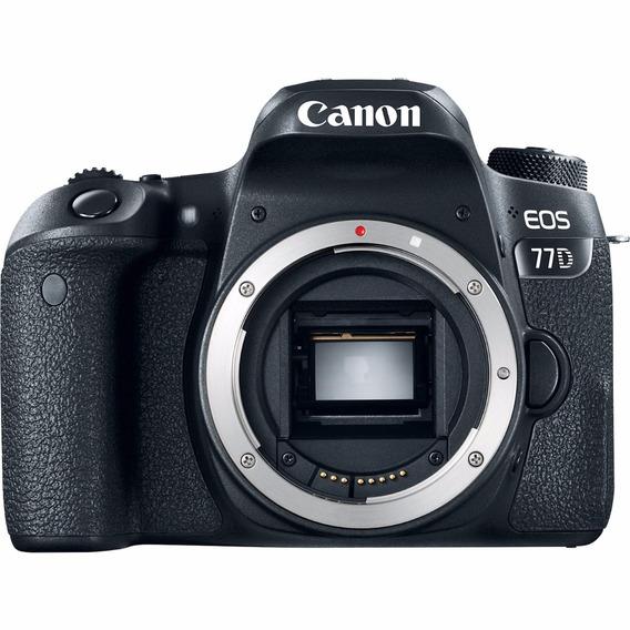 Câmera Profissional Canon Dslr Eos 77d Somente Corpo
