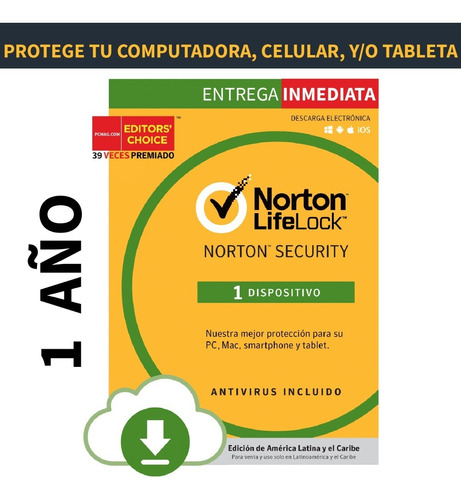Antivirus Norton Security Para 1 Dispositivo 1 Año