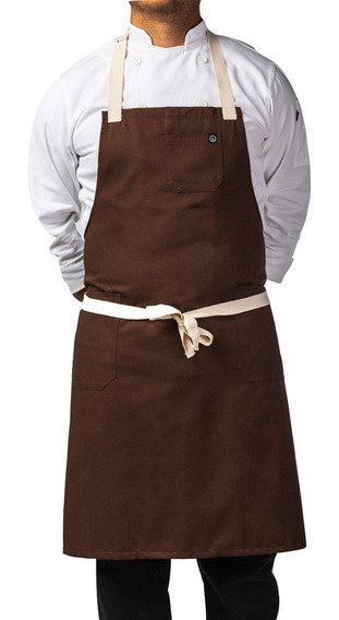 Mandil Para Chef Premium, Tela Importada, Hebilla Ajustable