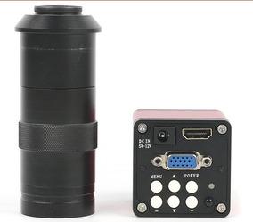 Microscópio Câmera Hdmi Vga 13mp Hd 8~130x Zoom + Lente