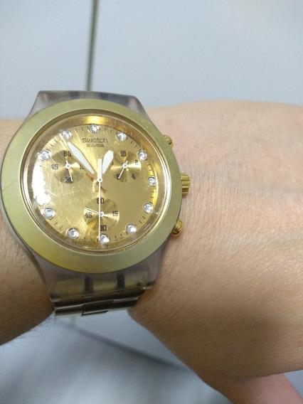 Relógio Swatch Original (dourado)