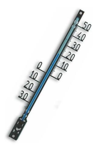 Termômetro Ambiente Alemão Em Metal Vazado -30+50 41cm Tfa