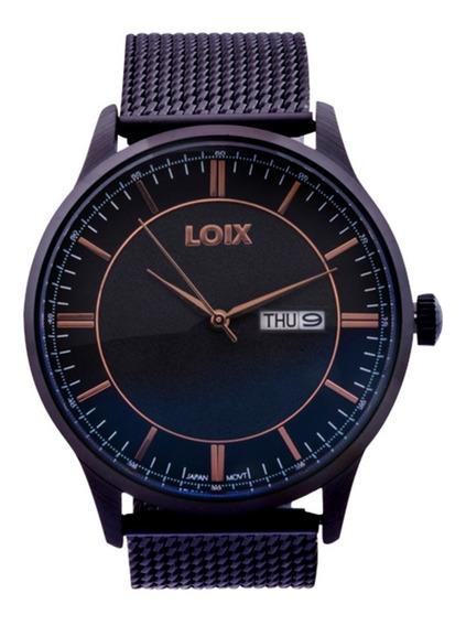 Reloj Loix Hombre De Lujo En Acero