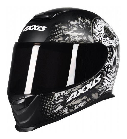 Capacete Motociclista Axxis Mt Mexican Skull