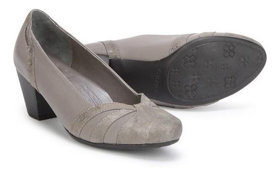 Zapatillas Calzado Vestir Dama 2611 Onena Gris Ancho 2x Moda