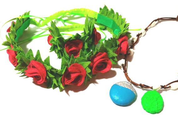 Corona, Tocado, Cintillo De Flores De Moana Disfraz