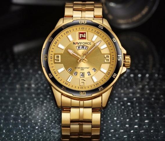 Relógio De Pulso Masculino Original Naviforce Com Caixa